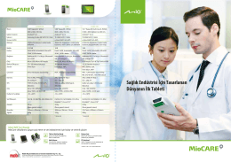 Mitac Gaia - Medikal Tablet PC
