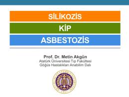 Silikozis, Kip, Asbestosiz - İmud - İş ve Meslek Hastalıkları Uzmanları