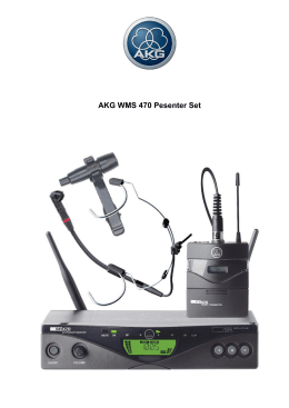 AKG WMS 470 Pesenter Set