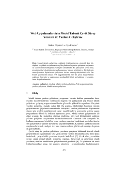 Web Uygulamaları için Model Tabanlı Çevik Süreç - CEUR