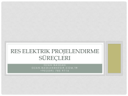 RES Elektrik Projelendirme Süreçleri