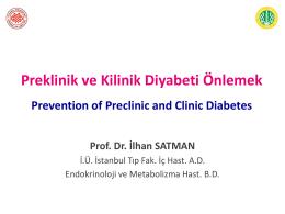 Pre ve- klinik diyabet prevansiyonu