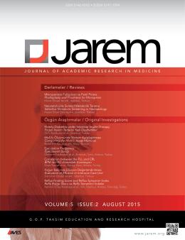 volume:5 ıssue:2 august 2015
