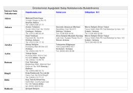 Satıcı Listesi