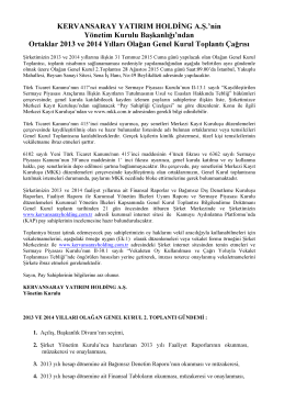2 nci toplantı olağan 2013 ve 2014 yılları 28/08/2015