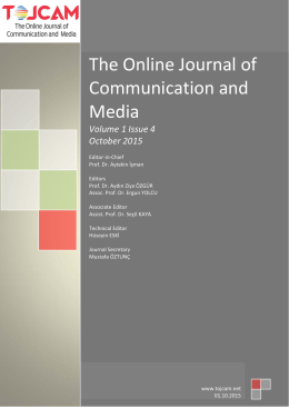 0 www. tojned. net The Online Journal of Communication and Media