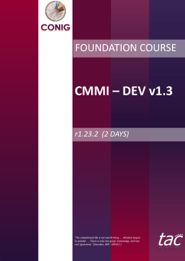 CMMI – DEV v1.3