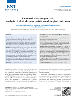 Paranasal sinus fungus ball: analysis of clinical