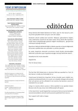 editörden - Yeni Symposium