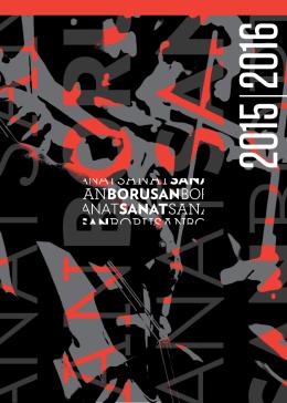 Borusan Sanat 2015-2016 sezon kitapçığını