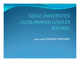 2014-2015 FAALİYET RAPORU