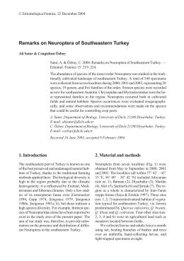 Remarks on Neuroptera of Southeastern Turkey