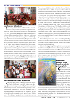 SAYFA 23-31 KULÜPLERDEN HABERLER