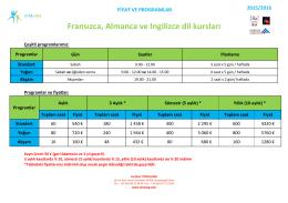 Fransızca, Almanca ve Ingilizce dil kursları