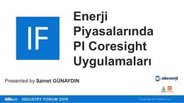Enerji Piyasalarında PI Coresight Uygulamaları