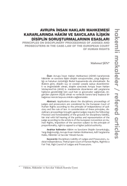 hakemli makaleler / refered articles