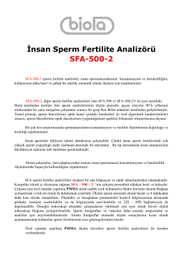 İnsan Sperm Fertilite Analizörü SFA-500-2