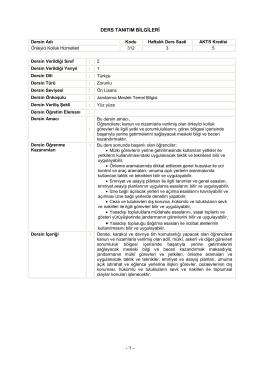 Önleyici Kolluk Hizmetleri - Jandarma Astsubay Meslek Yüksek Okulu