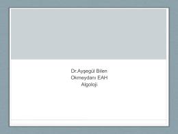 Dr.Ayşegül Bilen Okmeydanı EAH Algoloji