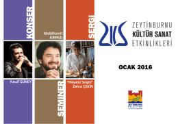 Ocak 2016 - Zeytinburnu Kültür Sanat