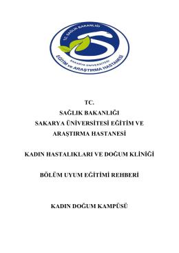 Kadın Doğum Servisi - Sakarya Eğitim ve Araştırma Hastanesi