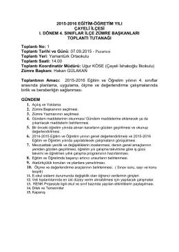 temel eğitim 4. sınıf zümresi - Çayeli İlçe Milli Eğitim Müdürlüğü