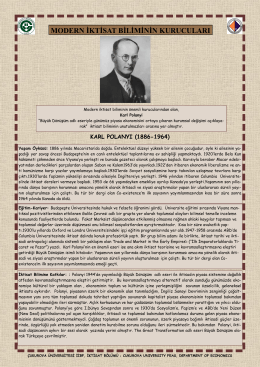 Karl Polanyi - CU Department of Economics