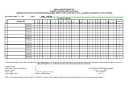 Puantaj Cetveli - İdari ve Mali İşler Daire Başkanlığı