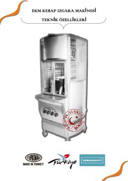 ekm kebap ızgara makinesi teknik özellikleri
