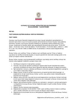 Taahhüd - Bureau Veritas Türkiye