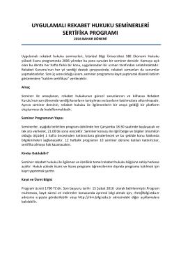 uygulamalı rekabet hukuku seminerleri sertifika programı