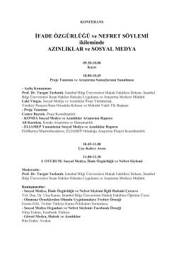 Dosyayı İndir - Sosyal Medya ve Azınlıklar Projesi