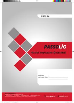 Passolig Hizmet Koşulları Sözleşmesi-06 / 11.2015
