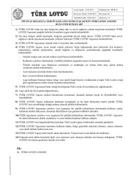 Türk Loydu Tip Onay Servis Sağlayıcı Kuruluşlar için Logo Kullanım