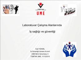 Laboratuvarda İş Güvenliği - İclal YÜKSEL