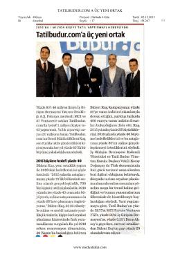 TATILBUDUR.COM A ÜÇ YENI ORTAK www.medyatakip.com