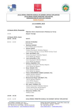 uclg-mewa yönetim kurulu ve konsey ortak toplantısı uclg