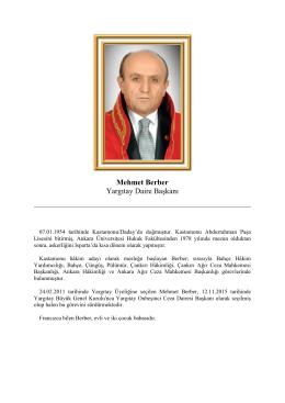 Mehmet Berber Yargıtay Daire Başkanı