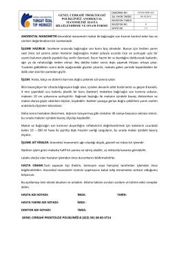 TOTM-OFR-425 Genel Cerrahi Proktoloji Polikliniği Anorektal
