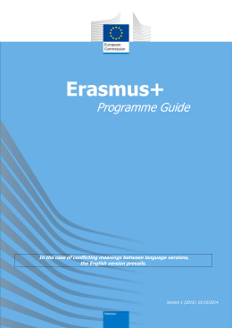 Erasmus+ Programme Guide for 2015