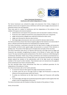 Venice Commission Declaration on Interference with Judicial