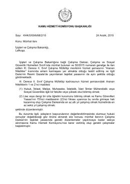 İçişleri ve Çalışma Bakanlığı çalışma müfettişi