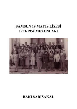 samsun 19 mayıs lisesi 1953