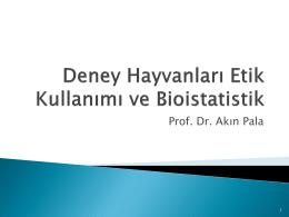 Deney Hayvanlarinda biostatistics