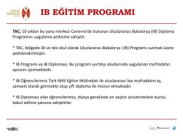 IB Programı ve IB Diploması detayları için lütfen