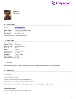 İndir: CV - Burak Uysal