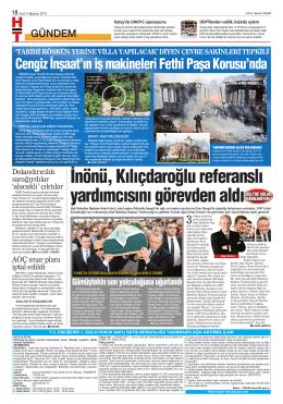 İnönü, Kılıçdaroğlu referanslı yardımcısını görevden aldı