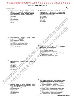 Anadolu Üniversitesi Açıköğretim Sistemi 2012