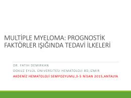 Dr. Fatih Demirkan - 2. Akdeniz Hematoloji Sempozyumu