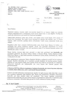 Eki : İlgi Yazı Örneği (2 Sayfa)
